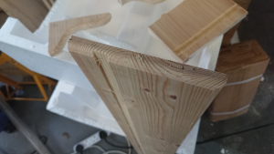 Shelf top, with routed edges and the groove for the lights